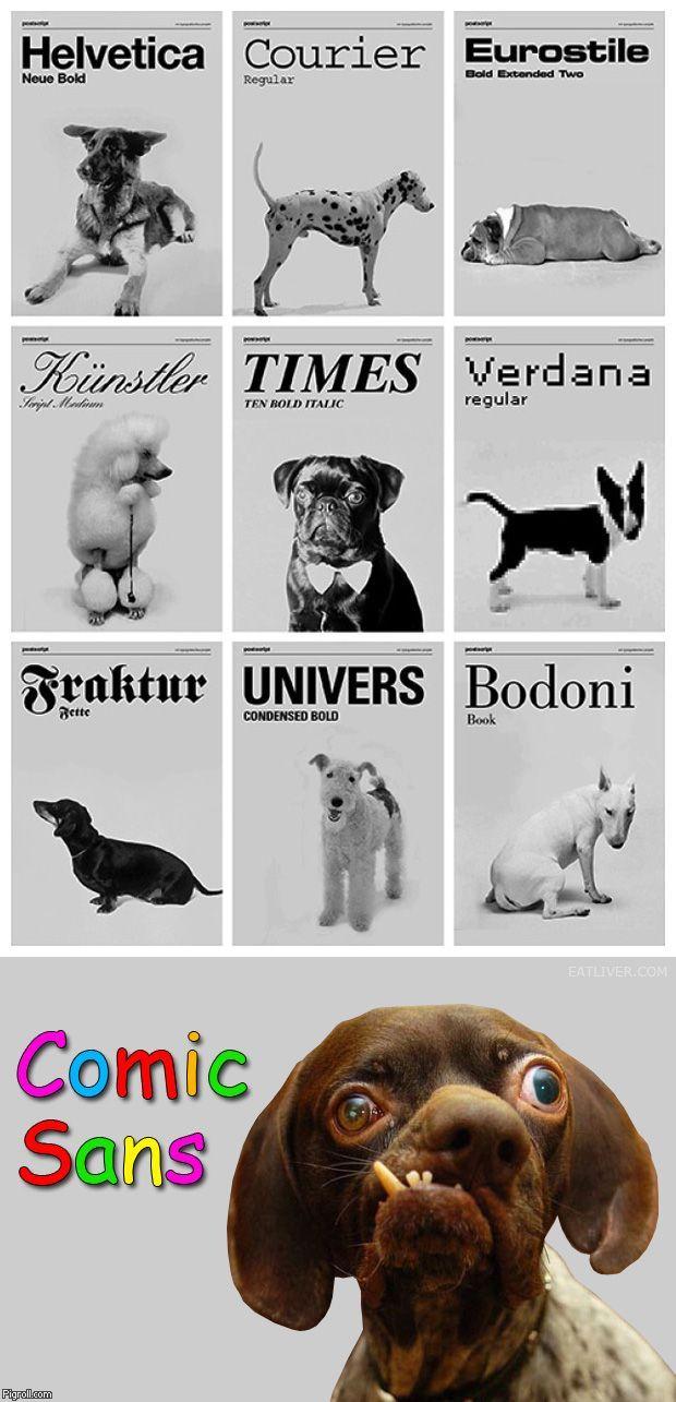 Un perro para cada tipografia