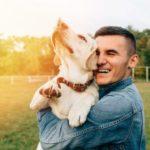 Muestra de cariño perro